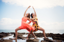 Yoga photo shoot Kailua Oahu Hawaii