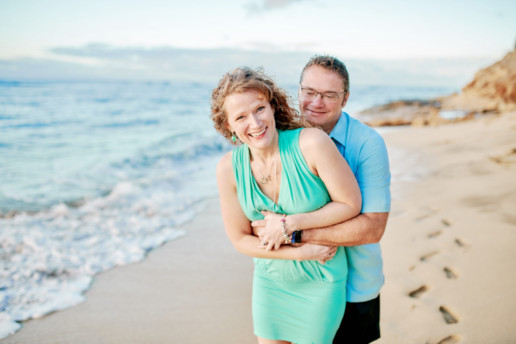 Couples photoshoot Diamond Head Beach Oahu